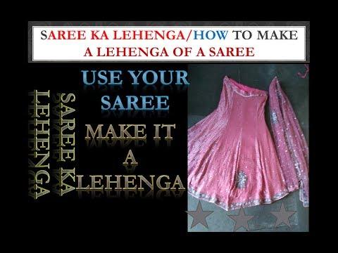 How To Make Lehenga By Saree