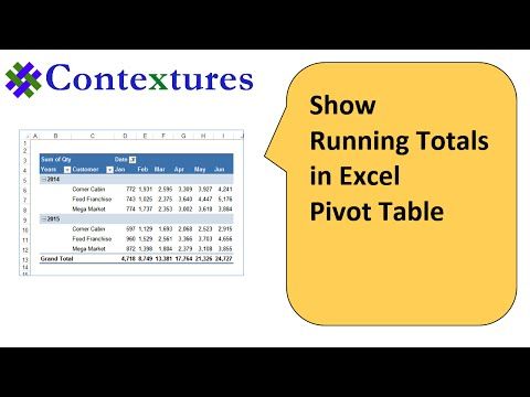 Show Running Total in Excel Pivot Table