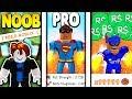 Download NOOB vs PRO vs ROBUX SPENDER *EPIC* | Super Power Training Simulator MP3,3GP,MP4