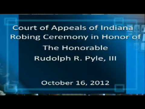 Hon. Rudolph R. Pyle's Robing Ceremony