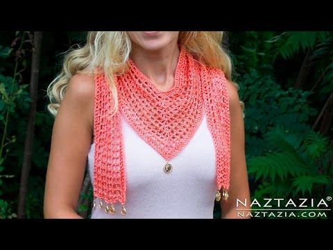 DIY Tutorial - How to Crochet The V Scarf - VScarf - V-Scarf