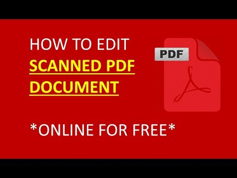 how to edit scanned pdf document, easy and fastest way to edit scanned document online free