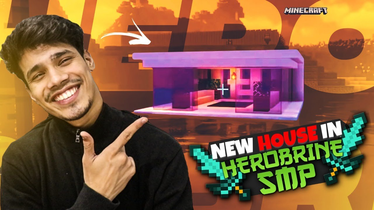 My New House In Herobrine SMP | Day #6