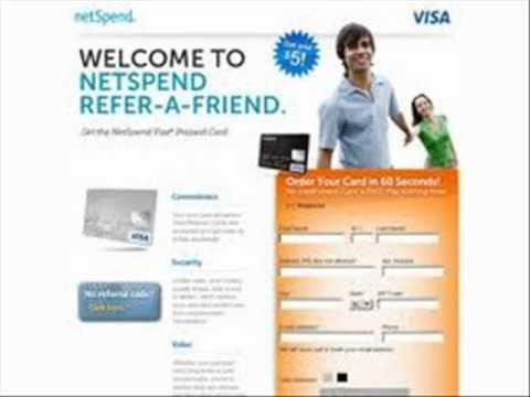 NetSpend MasterCard Prepaid Debit Card $20.00 Per Referral!