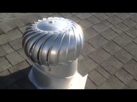 Wind Turbine Roof Vent saves on Summer power bill