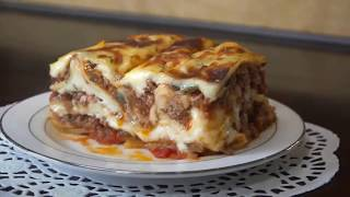 لازانيا مثل المطاعم من غير طبخ الباستا(لزانيا)  Lasagna without boiling the pasta