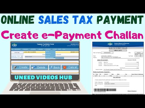 How To Prepare E-Payment To FBR | Making Payment For FBR Challan | Sales Tax Return 2018