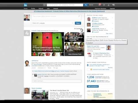 How to change your LinkedIn news feed views