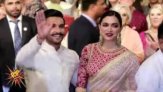 Ranveer Singh With Wife Deepika Padukone's Royal Entry At Isha Ambani's Wedding Reception