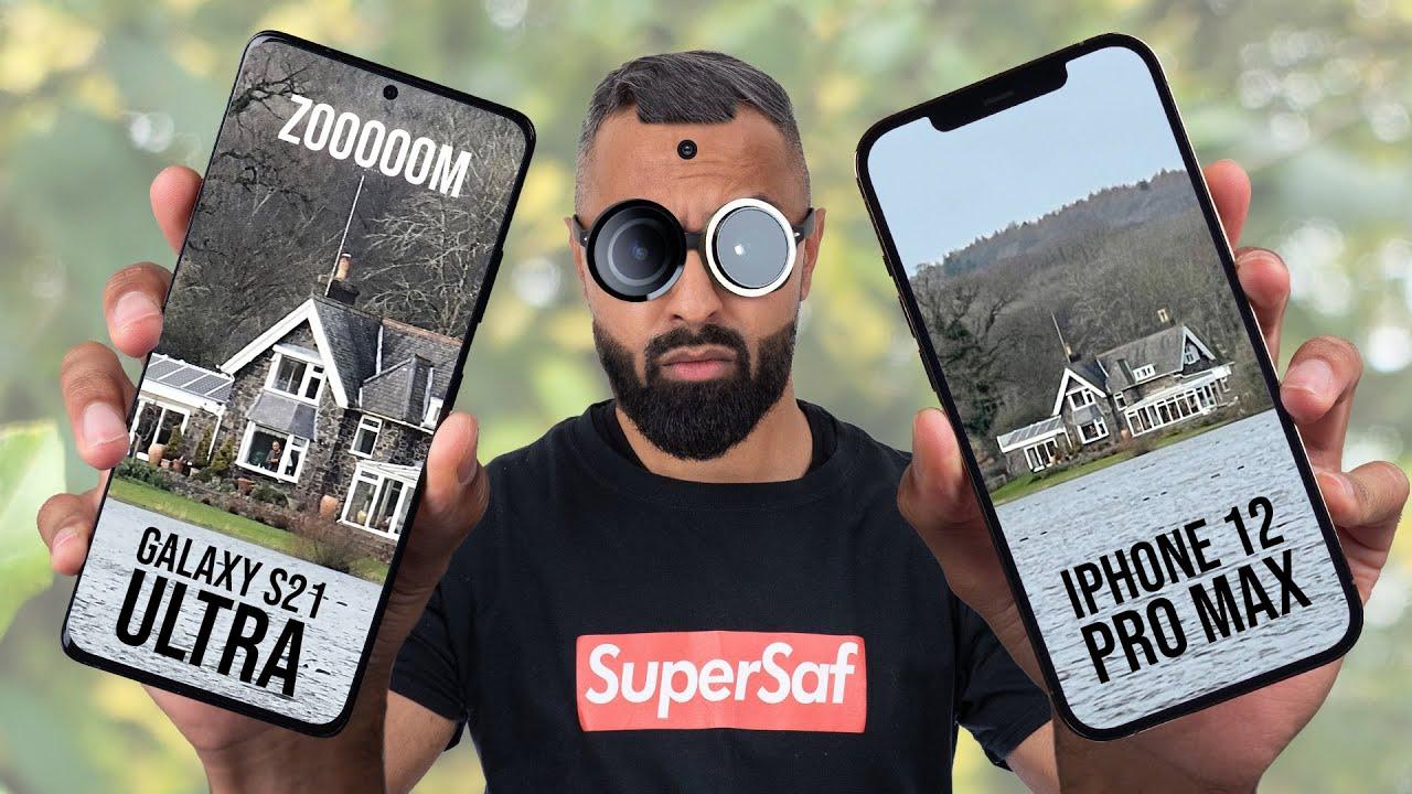 Samsung Galaxy S21 Ultra vs iPhone 12 Pro Max Camera Test Comparison