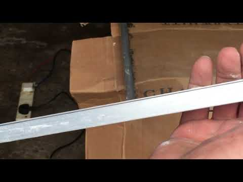 Cutting aluminium window frame with Dremel speed click