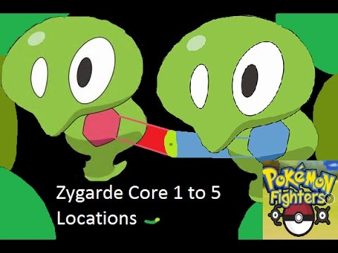 Pokemon Fighters EX: Zygarde Event all core locations {ENDED}