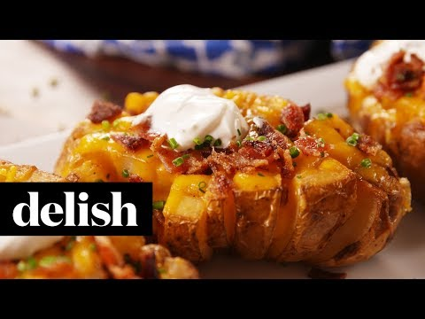 How to Make A Bloomin Baked Potato | Recipe | Delish