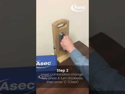 Asec Digilock AS4300 Series on door code change