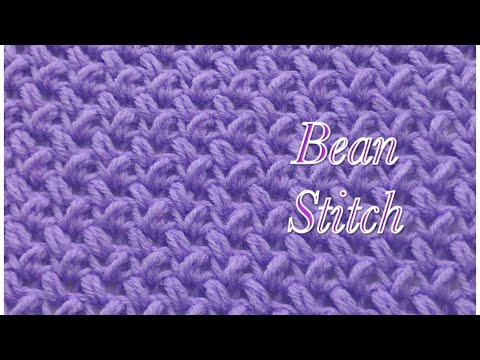 Bean Stitch -fast and easy crochet stitch #31