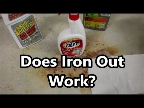 Concrete Rust Stain Cleaning Test 3 of 4: Does Iron Out Rust Remover Work?