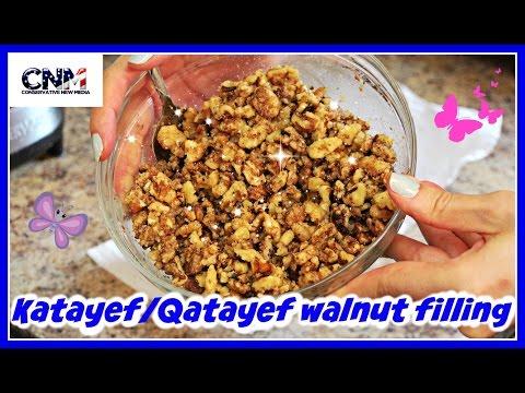 How to make Katayef/Qatayef Walnut Filling in 4K Ultra HD - (part 2)