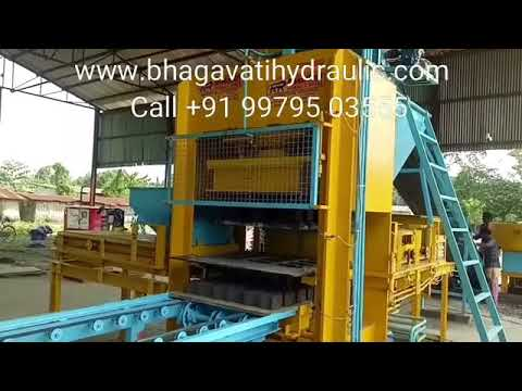 Fully Automatic Fly Ash Bricks and Block Making Machine By Bhagavati Hydraulic Works, Morbi