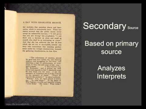 Primary and Secondary Sources in Literature