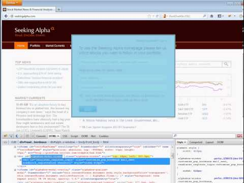 How to kill in page popups with CSS debugger and Geasemonkey