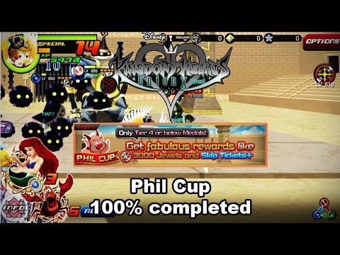 Kingdom Hearts Union X - Phil cup 100% completed