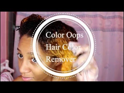 Removing Hair Color | Color Oops