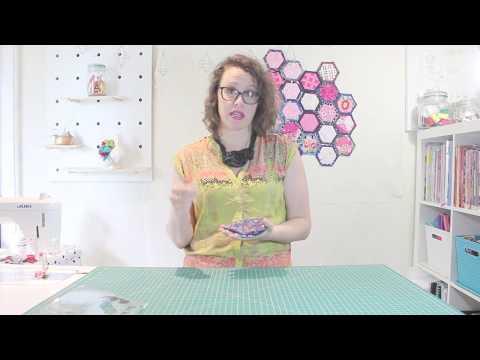 Hexagon quilt as you go tutorial #hexyalong