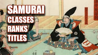 Classes, Ranks, and Titles of Feudal Japan [Kamakura and Muromachi Periods]