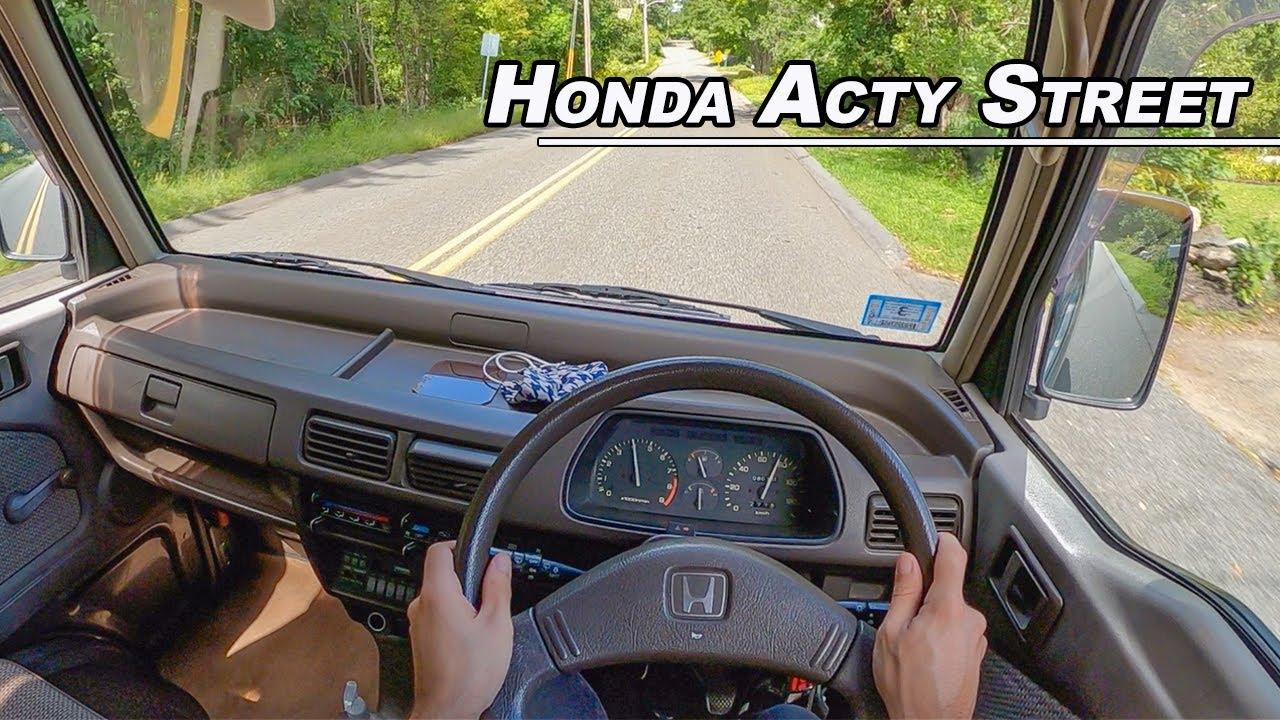 The 38 Horsepower Kei Car You Need To Drive! - 1992 Honda Acty Street Van POV (Binaural Audio)