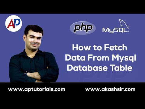 How to Fetch Data From Mysql Database Table in PHP  | PHP Mysql Database Tutorial in Hindi