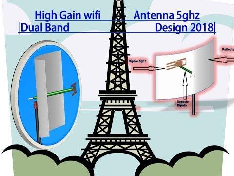How to make internet antenna | High Gain wifi Antenna 5ghz | Dual Band Design 2018 |