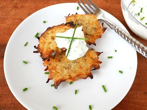 Side Dish Recipe: Baked Potato Pancakes with Horseradish Cream by Everyday Gourmet with Blakely