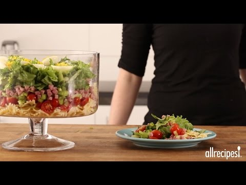 How to Make Layered Deviled Egg Pasta Salad | Summer Salad Recipes | Allrecipes.com