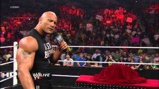 The Rock reveals the new WWE Championship: Raw, Feb. 18, 2013