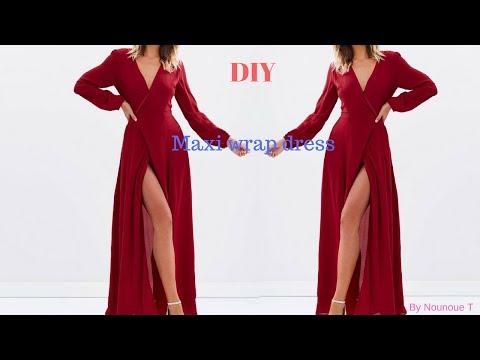 DIY : Maxi wrap dress
