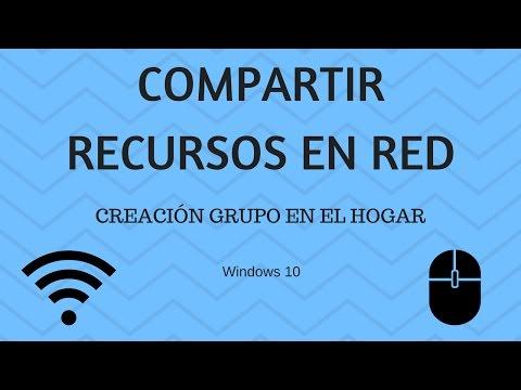 Red domestica como compartir recursos en red | Part1 Creación Grupo en el Hogar.