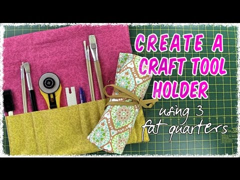 EASY to Make Sewing Tools/Artist Brush Roll-up Holder (Tutorial)