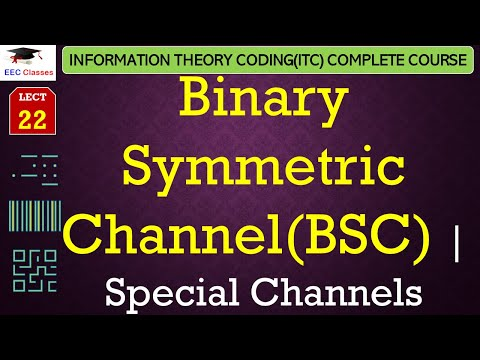 Special Channels – Binary Symmetric Channel(BSC) with solved example(ITC Lectures Hindi)