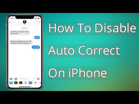 How to Disable Autocorrect on an iPhone or iPod Touch