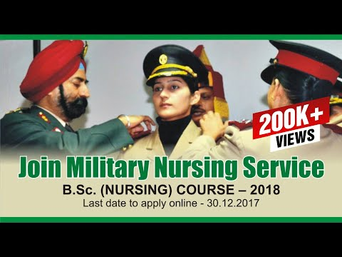 JOIN MILITARY NURSING SERVICE BSc (NURSING) COURSE | MNS Notification 2018
