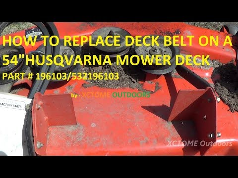 How To Replace The Deck Belt on a 54