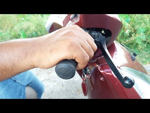 How to slow ride a scooty for beginners