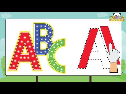Alphabets Formation A to Z for Children | How to Write Alphabet Capital Letters | Best Kids Video