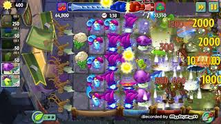 Plants vs zombies 2-Battlez level with electric peashooters
