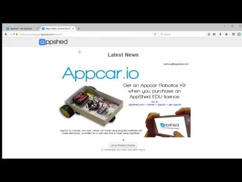 How to create an Appshed login