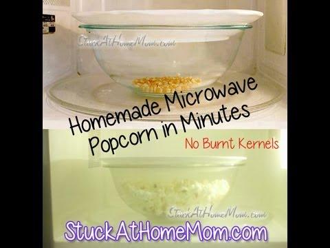 Quick & Easy Homemade Microwave Popcorn No Burnt Kernels #homemade #popcorn