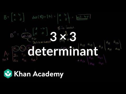 3 x 3 determinant | Matrix transformations | Linear Algebra | Khan Academy