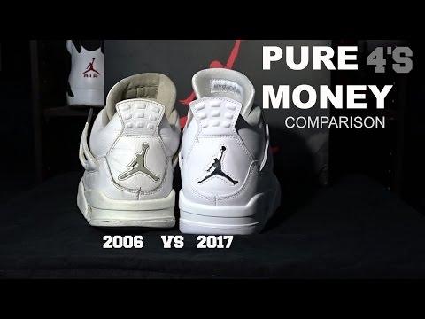 AIR JORDAN PURE MONEY 4 COMPARISON (2006, 2017)