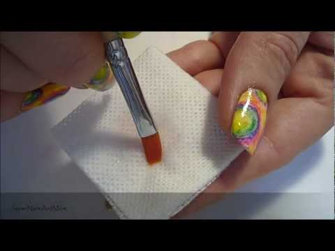 How to clean Gel Nail  Brushes