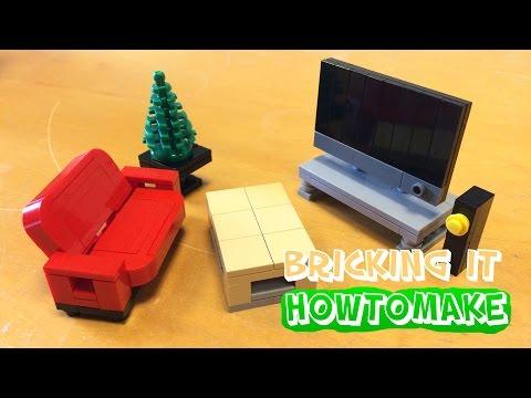 How To Make a LEGO Modern Living Room (MOC, Basic, Reupload)